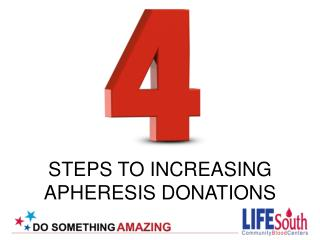 STEPS TO INCREASING  APHERESIS DONATIONS