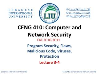 CENG 410: Computer and Network Security