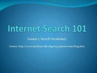 Internet Search 101