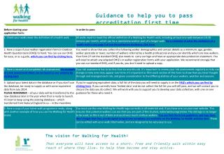 Guidance to help you to pass accreditation first time