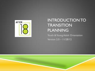Introduction to Transition Planning