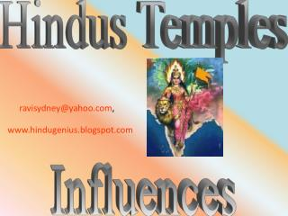 Hindus Temples Influences
