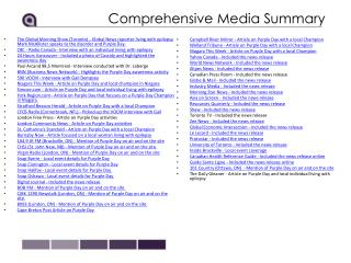 Comprehensive Media Summary