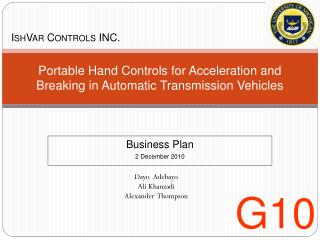 Portable Hand Controls for Acceleration and Breaking in Automatic Transmission Vehicles