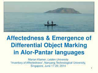 Affectedness & Emergence of  Differential Object Marking  in  Alor-Pantar  languages