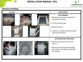INSTALLATION  MANUAL FATL