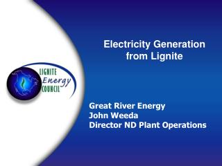 Electricity Generation  from Lignite