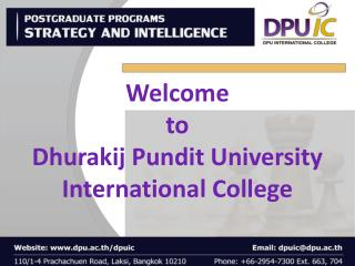 Welcome  to Dhurakij  Pundit University International College