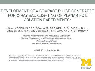 Plasma, Pulsed Power and Microwave Laboratory,