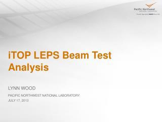 iTOP LEPS Beam Test Analysis