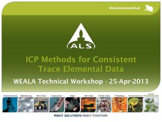 ICP Methods for Consistent Trace Elemental Data