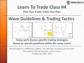 Wave Guidelines & Trading Tactics