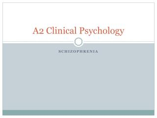 A2  Clinical Psychology