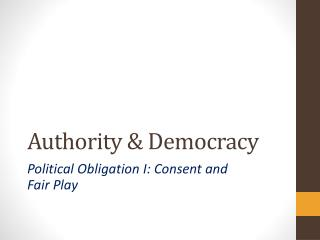 Authority & Democracy