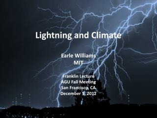 Lightning and Climate