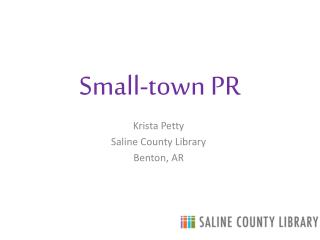 Small-town PR
