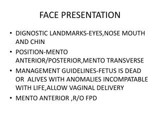 Face to pubes presentation
