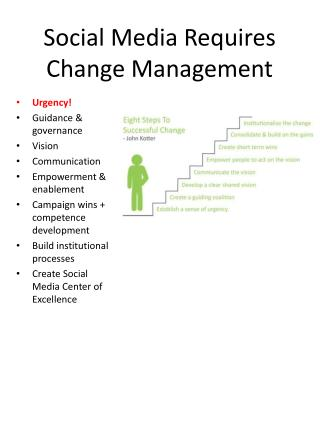 Social Media Requires Change Management