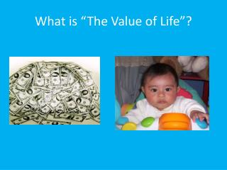 "What is ""The Value of Life""?"
