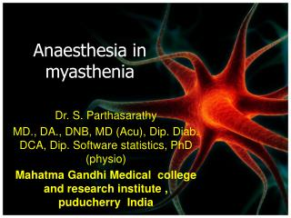 Anaesthesia in myasthenia