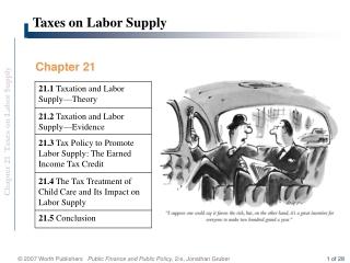 Taxes on Labor Supply