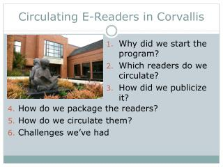 Circulating E-Readers in Corvallis