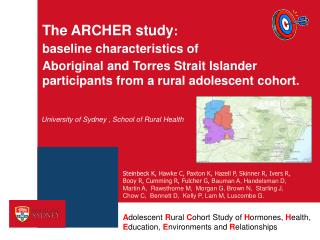 The ARCHER study :  baseline  characteristics of