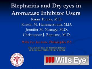 Blepharitis and Dry eyes in Aromatase Inhibitor Users