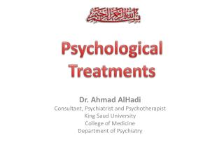 Psychological Treatments