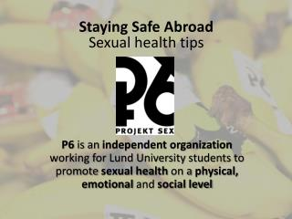 Staying Safe Abroad Sexual  health  tips