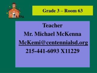 Grade 3 – Room 63