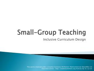 Small-Group Teaching