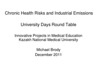 Chronic Health Risks and Industrial Emissions