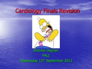 Cardiology Finals Revision