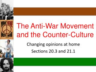 The Anti-War Movement and the Counter-Culture