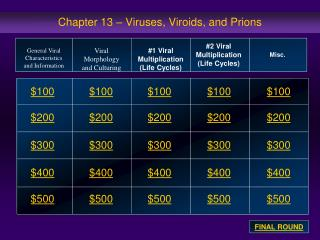 Chapter 13 – Viruses,  Viroids , and  Prions