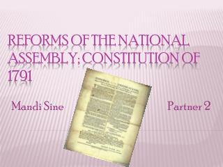 Reforms of the National Assembly; Constitution of 1791
