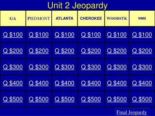 Unit  2  Jeopardy