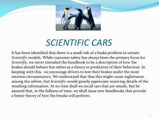 SCIENTIFIC CARS