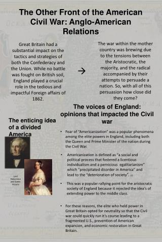The Other  F ront of the American Civil War: Anglo-American Relations