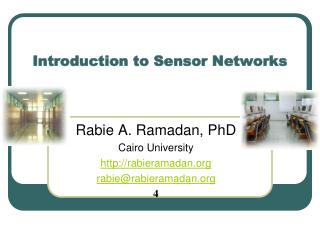 Introduction to Sensor Networks