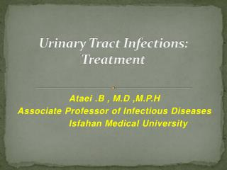Urinary Tract Infections: Treatment