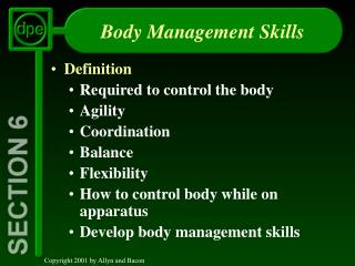 Body Management Skills