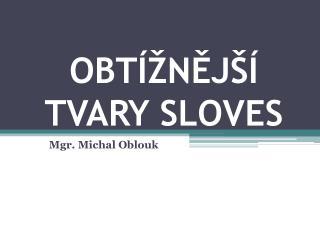 OBTÍŽNĚJŠÍ TVARY SLOVES