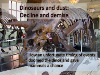 Dinosaurs and dust:   Decline and demise