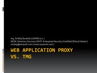 Web Application Proxy vs. TMG
