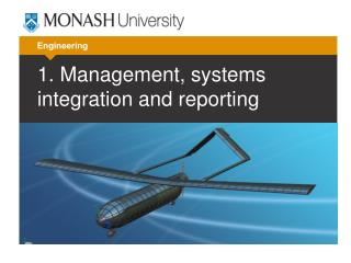 1. Management, systems integration and reporting