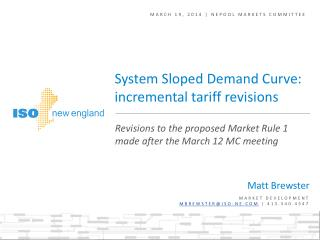 March 19, 2014 | NEPOOL Markets Committee