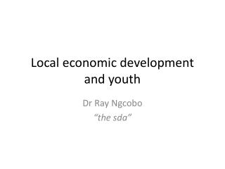 Local economic development and youth