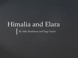 Himalia and Elara